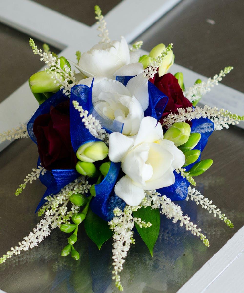 Blue Fantasy Corsage Fargo Corsage Wristlet Flowers