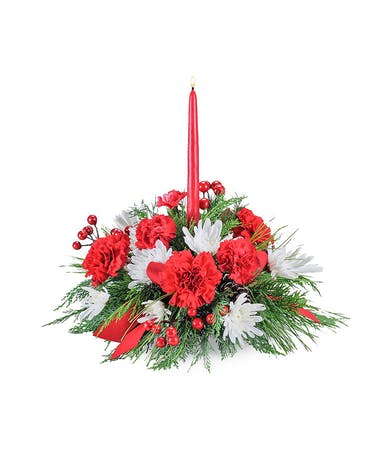 Christmas Table Arrangements Flowers.Christmas Table