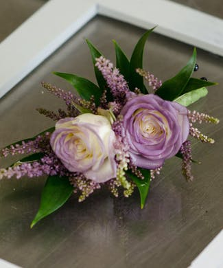 Plum Perfect Boutonniere