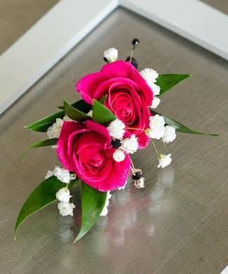 Poppin Pink Boutonniere
