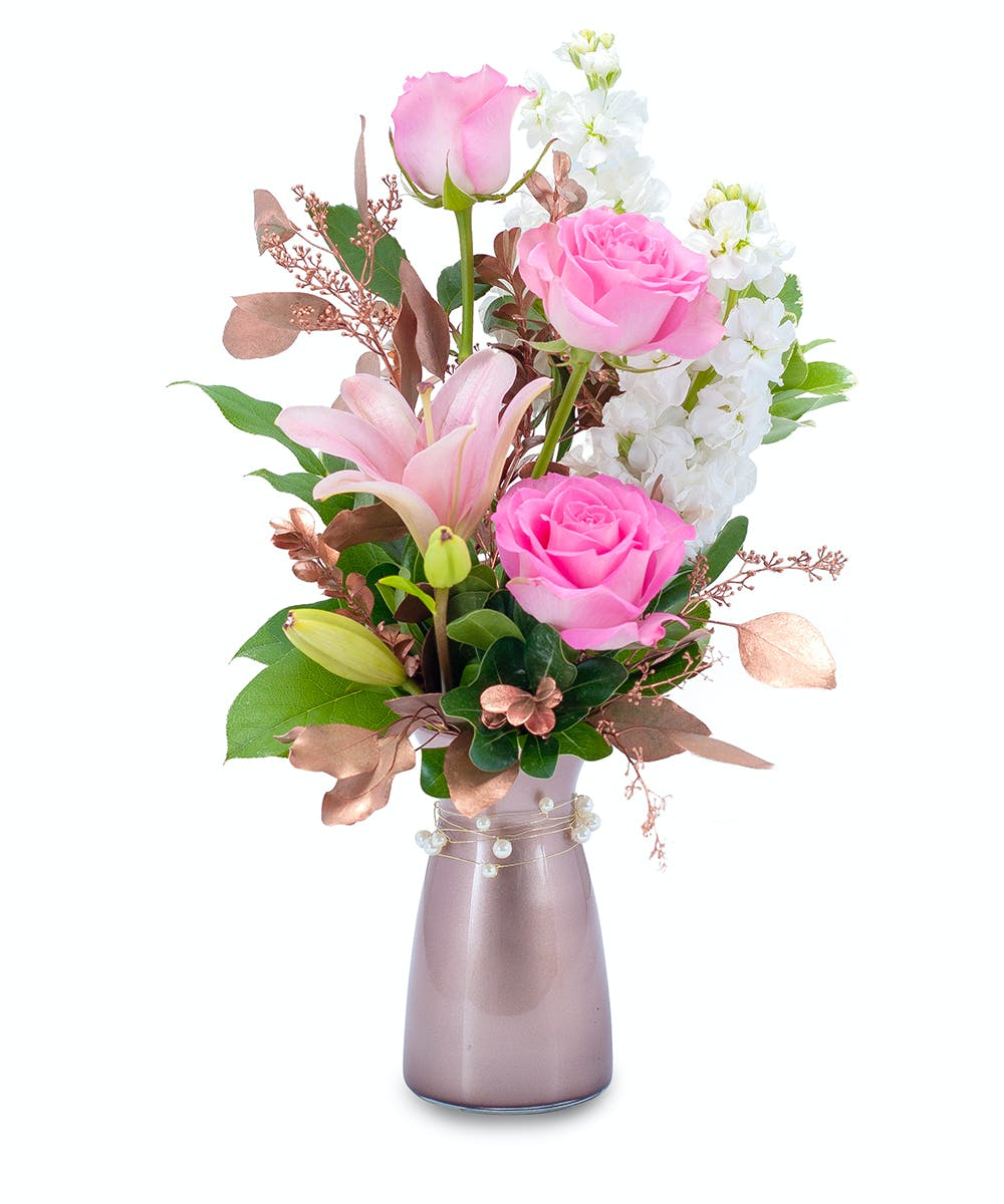 Vintage Pink Flowers Fargo Moorhead Same Day Flower Delivery