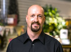 JD Shotwell, our current owner, just inside the front door of our Fargo showroom